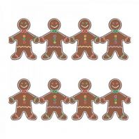 Hygloss Classroom Die Cut, Gingerbread Men Border, 3 x 36-Inch 12-Pack, 33608