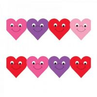Hygloss Classroom Die Cut, Happy Hearts Border, 3 x 36-Inch 12-Pack, 33618