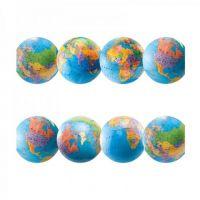 Hygloss Classroom Die Cut, Globes Border, 3 x 36-Inch 12-Pack, 33619