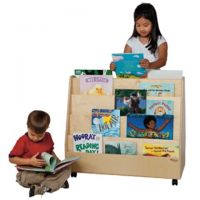 Wood Designs, Children's Double Sided Book Display, Natural , WD34200