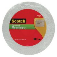 Scotch Double-Sided Foam Mounting Tape, 1/2