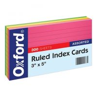 Oxford Index Cards Ruled , 3