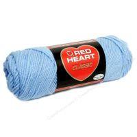 Red Heart classic, Crochet Premium Acrylic Knitting yarn, Light Blue