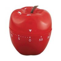 60 Mins Red Apple Shaped Mechanical Kitchen Timer Cooking ,Test, Naps Count Down Tools