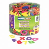 Chenille Kraft WonderFoam Letters and Numbers CKC-4304 contains over 1500 pieces