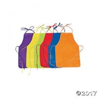 Colorful Kids' Polyester Aprons To Decorate - 12 pcs.