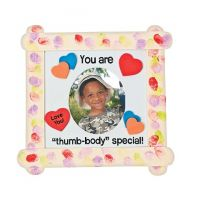 """""""Thumb-Body Special"""" Craft Stick Picture Frame Craft Kit"""
