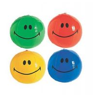 Inflatable Mini Smile Face Beach Balls , 12 units