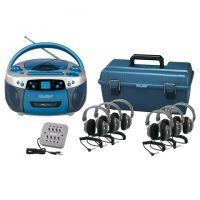 Classroom Boombox Radio Cassette Recorder,  listening center ,headphone, Group of 6