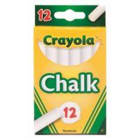 Crayola Chalk, White, 12 Sticks Per Box 51-0320