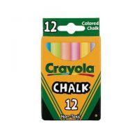 Crayola Chalk, Assorted Colors, 12 Sticks Per Box 51-0816