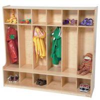 Wood Designs, Children 6 Section Locker 54