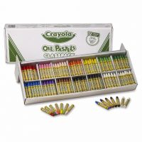Crayola oil pastels classpack, jumbo-sized stick w/tapered point, 336/pack  52-4629