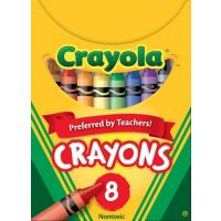 Crayola Classic Color Pack Crayons, Tuck Box, 8 Colors Box  52-0008
