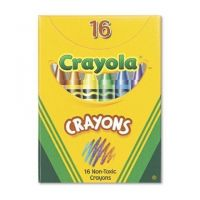 Crayola Classic Color Pack Crayons, Tuck Box, 16 Colors Box  52-0016