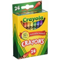 Crayola Classic Color Pack Crayons, Tuck Box, 24 Colors Box  52-0024