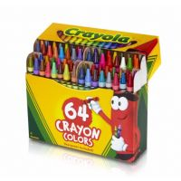 Crayola Classic Color Pack Crayons, Tuck Box, 64 Colors Box  52-0064