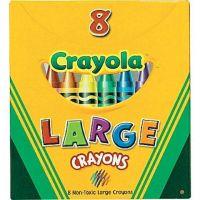 Crayola Large Crayons, Tuck Box, 8 Colors/Box 52-0080