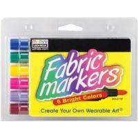 Uchida Fabric Marker Broad Tip 6/Pkg-Bright 520-6E