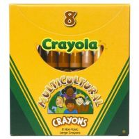 Crayola Multicultural Crayons, Large 8 Skin Tone Colors  (52-080W)