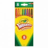 Crayola Twistables 8 Regular Color Crayons 52-7408