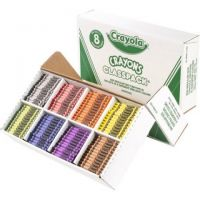 Crayola Classpack of Regular Crayons, 8 Colors, 800-Count