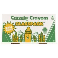 Crayola 400ct Large Size Crayon Classpack 8 colors 52-8038