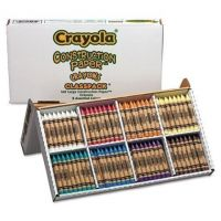 Crayola - Construction Paper Crayons, Classpack, Wax, 20 Sets of 8 Colors, 160/Box 52-8059