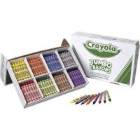 Crayola Jumbo-Sized Crayons Classroom Pack - Set of 200 - Assorted Colors (52-8389)