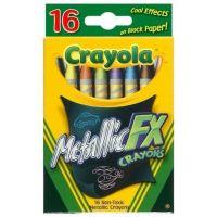 Crayola Metallic Fx Crayons 16 Count