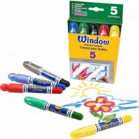 Crayola Washable Window Crayons 5 count  52-9765