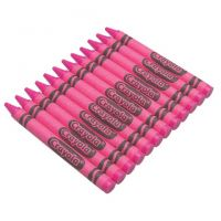 Crayola Regular Crayon Single Color Refill Pack - Pink -12 count