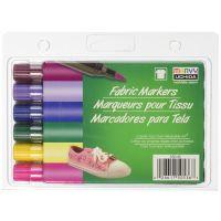 Uchida Fabric Marker Brush Tip, 6-Pack, Bright 530-6E