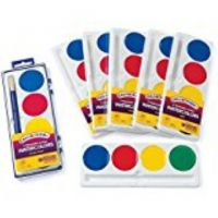 Crayola  Refill (Package of six) 4 Color Pan Set Jumbo So Big Washable Watercolors 53-1500