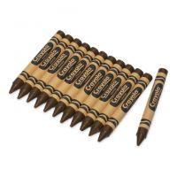 Crayola Crayons Bulk Refill - Large Size, Box of 12, Brown 52-0033-07