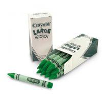 Crayola Crayons Bulk Refill - Large Size, Box of 12, Green 52-0033-44
