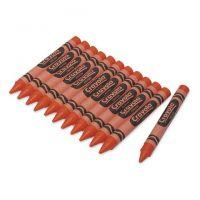 Crayola Crayons Bulk Refill - Large Size, Box of 12, Orange 52-0033-36
