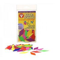 Hygloss Gummed Paper Shape Stick-A-Licks Diamonds, 2000 Economy Pack (5600)