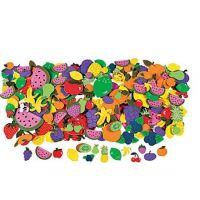 500 Fabulous Foam Self-Adhesive Fruit Shapes
