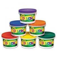 Crayola - Modeling Dough Bucket, 3 lbs., Assorted, 6 Buckets/Set 57-0016