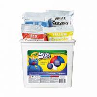 Crayola Model Magic Modeling Compound, 2-lb. Bucket, Asstd Colors, Four 8-oz. Pouches, 57-4415