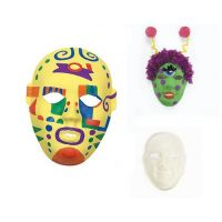paper mache design own masks - 6 pcs.
