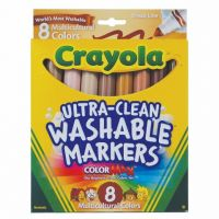 Crayola; Multicultural Colors; Broad Line Washable Markers 8 ct. 58-7801