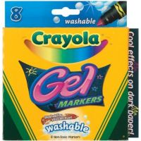 Crayola 8 Count Gel FX Washable Markers 58-8163