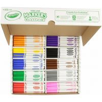 Crayola 200 Ct Fine Line Markers, 10 Assorted Colors 58-8210