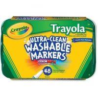 Crayola 58-8214  Trayola Washable Marker Fine Tip - 48 / Set