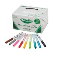 Crayola Fabric Marker Classpack, Nine Assorted Colors, 80 Set 10 different colors 58-8215