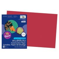 SunWorks Heavyweight Construction Paper, Red 12