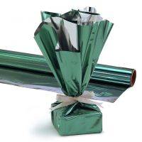 Hygloss Products, Mylar Gift Wrap Roll, 24-Inch by 8.3-Feet, Green
