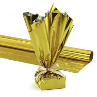Hygloss Products, Mylar Gift Wrap Roll, 24-Inch by 8.3-Feet, Gold